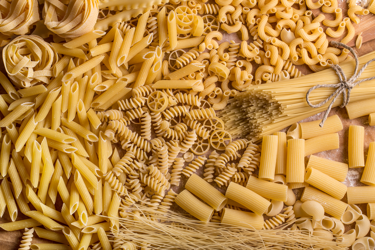 Image of various pasta shapes