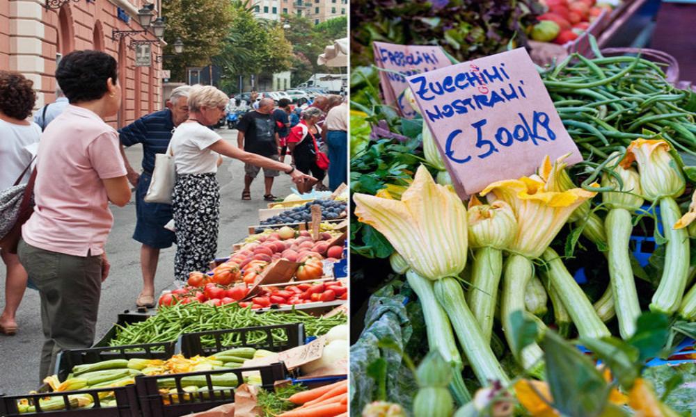 Italian market Via Verdi